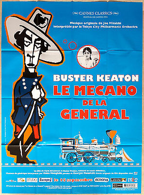 2004RR THE GENERAL Buster Keaton French 47x63 movie poster