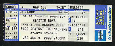 2000 Beastie Boys Rage Against Machine full concert ticket Fight For Your Right