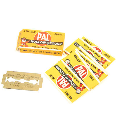 Original U.S. WWII Shaving Safety Razor Blades by PAL- Pack of 10 - N.O.S.