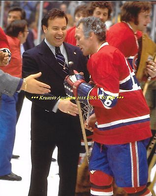 HENRI RICHARD & SCOTTY BOWMAN Celebrate STANLEY CUP 8x10 Photo CANADIENS HOFers