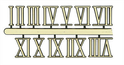 NEW Roman Gold Clock Numerals -Numbers-DIY- Choose 7 Sizes! Stick On 1-12
