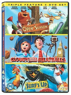 Cloudy With a Chance of Meatballs/Open Season/Surf's Up (Box Set) [DVD]