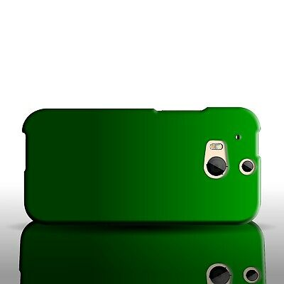 Dark Green Case For HTC One (M8) Hard Rubberized Snap On Phone Cover