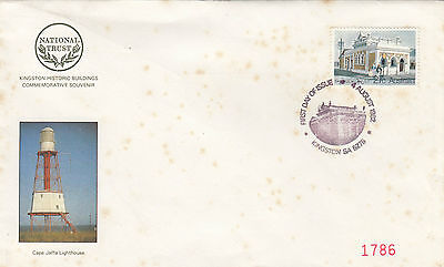 Stamp Kingston P.O South Australia souvenir cover showing Cape Jaffa Lighthouse