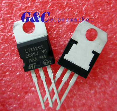 10PCS IC L7812CV TO-220 Voltage Regulator 12V  NEW GOOD QUALITY T27