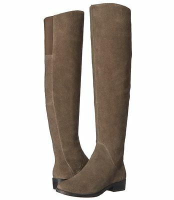 64118b46871  249 size 6.5 Steven Salley Taupe Suede Over the Knee Riding Boots shoes NEW