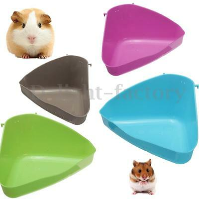Small Animal Pet Cat Rabbit Guinea Mice Pig Hamster Corner Litter Trays 4 Colors