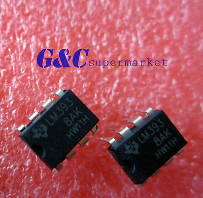 20Pcs Ic Lm393 Lm393N Lm393P Ti/st/ns Dip-8  New Good Quality