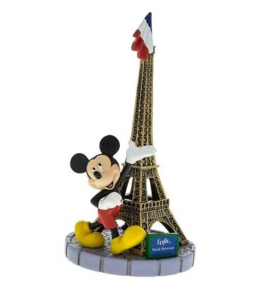 disney parks epcot paris mickey mouse with tower eiffel figurine new