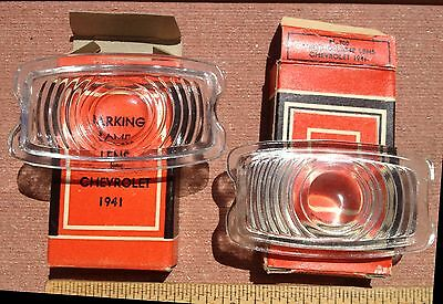 NOS 1941 CHEVROLET Parking Lights Lens Chevy 2 NORS Special Master DeLuxe Glass