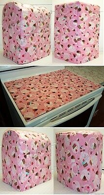 Custom Pink Cupcake Cover Set for Kitchen Countertop Appliances