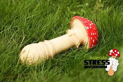 Stress Reliever Red Big Mushroom Pull Squeeze Anger Relaxation Health Promotion