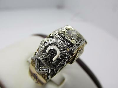 Vintage 14k Solid Yellow Gold Masonic Ring Sz 11