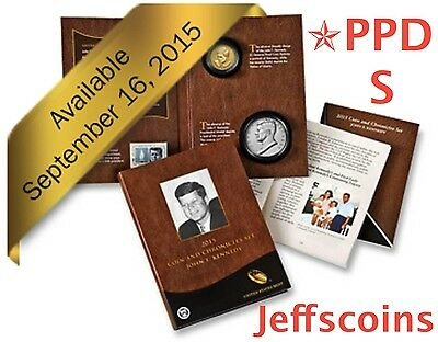 ✯2015 John F Kennedy Coin & Chronicles Set Reverse Proof ✯PPDS AX3 Presidential