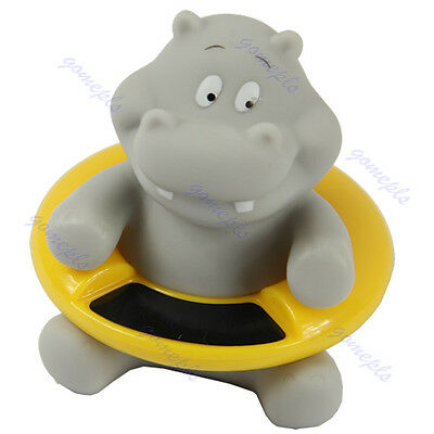 Hippo Shaped Baby Infant Bath Tub Thermometer Water Temperature Tester Toy New