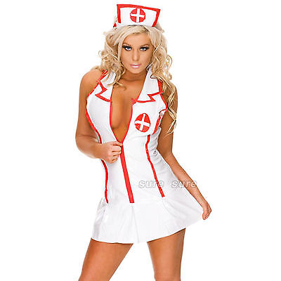 Sexy Halloween Cosplay Costume Donna infermiera uniforme Carnevale S-XL