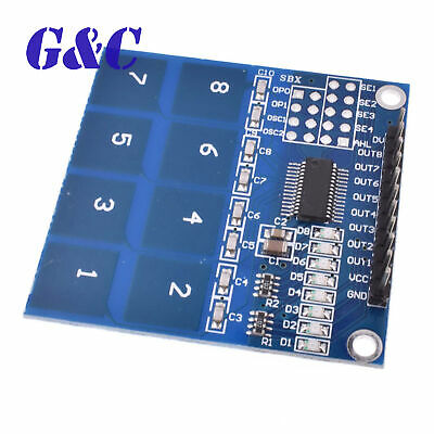 5PCS TTP226 8 Channel Digital Capacitive Switch Touch Sensor Module arduino M28