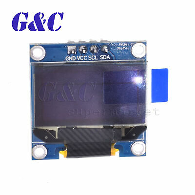"Blue 3-5V 0.96"" I2C Serial 128X64 OLED LCD LED Display Module for Arduino M94"