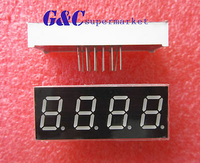 10PCS 0.56 inch 4 digit led display 7 seg segment Common cathode -Red NEW