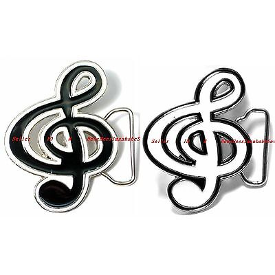 Hbum0256 Musical Symbol Treble Clef G Clef Music Notation Alloy Belt Buckle