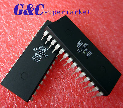 1PCS Flash Memory IC ATMEL DIP-28 AT29C256-90PC