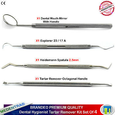 Heidemann Explorer 23/17 Tartar Scraper Basic Dental Hygienist Examination Kit