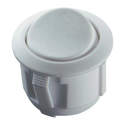 Switch Round Rocker, On-On 250V AC 6A White Circular