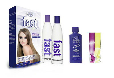 FAST Grow Hair Growth Shampoo Stimulating Regrowth Serum + 2 Gorgeous Hairties