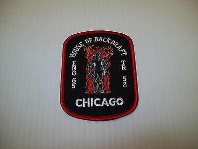 """Chicago Fire Department Engine 65 Patch """"Backdraft"""""""