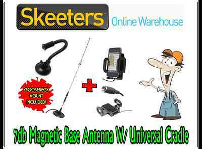 7db Magnetic Mobile Phone Antenna W/ Universal Suc. Patch Cradle- iPhone Android