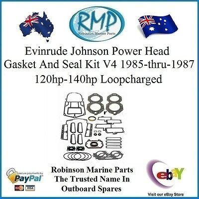 A Brand New Powerhead Gasket Kit Evinrude Johnson 120hp-140hp 1985-1987 # 396750