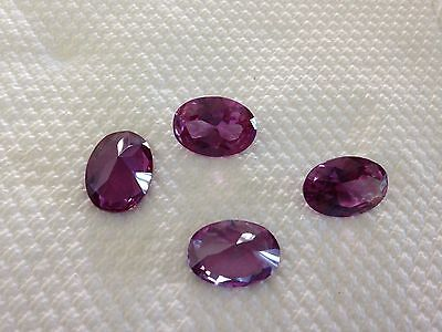 TWO PCS - HUGE GEMS!   10 X12 mm Simulated ALEXANDRITE OVAL CUT 5 ct