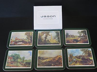 6 Boxed Jason Drink Coasters Featuring John Constable Paintings
