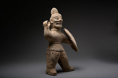 Ancient Chinese Six Dynasty Western Jin Pottery Exorcist Figure - 300 AD