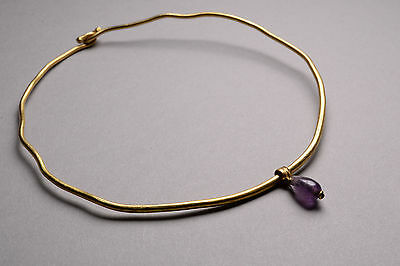 Ancient Roman Gold Amethyst Armlet / Bangle - 150 AD