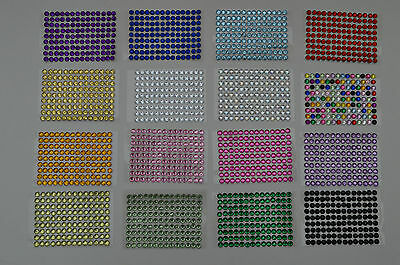 BIG SHEETS STICK ON SELF ADHESIVE Diamontes IN STRIPS Diamond Rhinestone 7 for 5