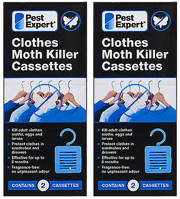 Clothes Moth Killer Cassettes Hanging Units from Pest Expert (Twinpack) X2