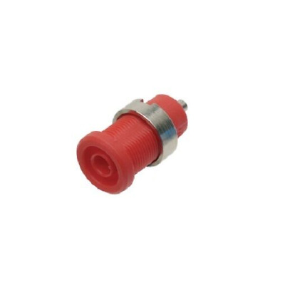 4mm Banana Shrouded Test Socket Red Connector Insulated Panel Mount