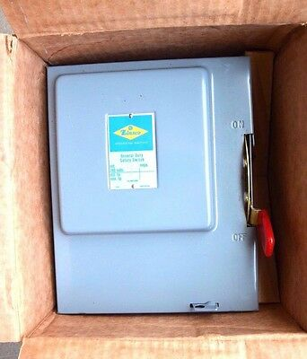 ZINSCO Safety Switch 60 Amp 60A 2 Pole NEW D632SN 120/240 VAC Fusible Main Lug