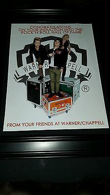 Green Day Warner/Chappell Rock & Roll Hall Of Fame Rare Promo Poster Ad Framed!