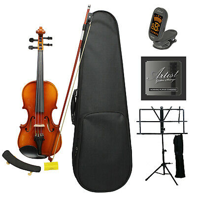 Artist SVN44 Solid Wood Violin Ultimate Package 4/4 - Full Size - New