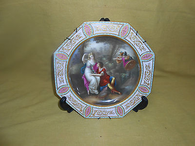 Royal Vienna Antique  Hand Painted Plate.