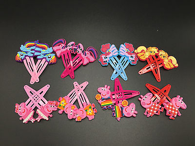 My Little Pony / Peppa  Hair Clips  Accessories 4 pair X'mas Gift