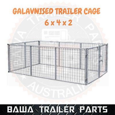Galvanised Trailer Cage 6x4x2 Feet With Fittings! BOX TUBING ! TRAILER PARTS!