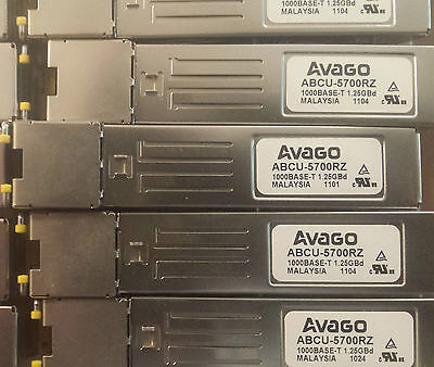 New Avago SFP RJ45 1000BASE-T 1. 25GBd Transceiver. ABCU-5700RZ Tracked postage