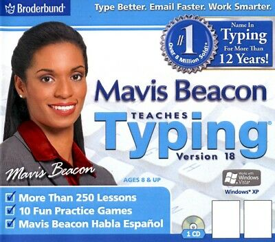 Mavis Beacon Teaches Typing 18 Brand New Sealed PC and MAC