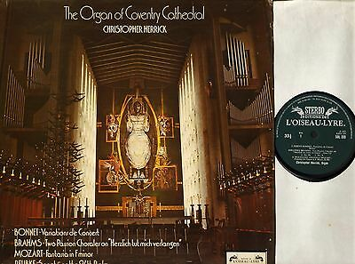 SOL 335 CHRISTOPHER HERRICK the organ of coventry cathedral LP PS EX/EX-