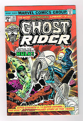 GHOST RIDER #10: Bronze Age Grade 9.0 Classic Featuring The Hulk!!
