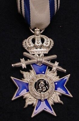 German Wwi Medal Bavaria Military Merit Order 4Th Class With Crown & Swords