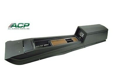 1970 Mustang Complete Manual Console Assembly Deluxe Interior With Woodgrain
